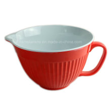9inch Bicolor Melamine Mixing Bowl with Handle