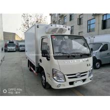 Cabina de una hilera YUEJIN 95Hp pequeño camión refrigerado 4x2