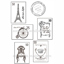 2015 hangzhou yiwu hot wholesale postage stamp set clear stamp for scrapbooking