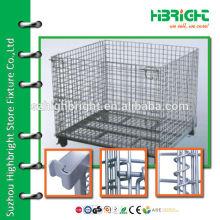 zinc plated mesh nesting storage bins