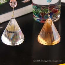 Pendentif en cristal coloré de décoration de mariage de quartz