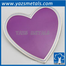 custom high quality violet heart lapel pins with logo design