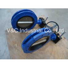 U Type Double Flanged Butterfly Valve