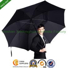 """68"""" arc ventilé en fibre de verre protégeant du vent parapluie de Golf pour homme (GED-0034FD)"""