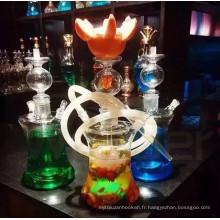 Narguilé en verre de Shisha d'OEM fait d'usine pour le pub