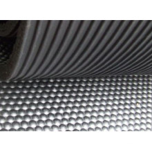 Corrugated Fine Rib Rubber Sheet for Garage, Truck Bed, Passage
