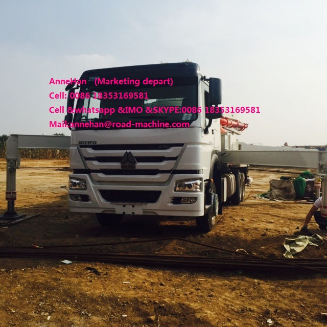 Truck Mounted Howo Concrete Pump Truck (6)