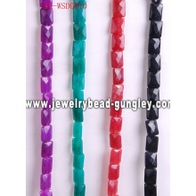 Gemstone beaded jewelry with dyed color