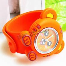 Gets.com silicone slug multicolor no relógio para crianças