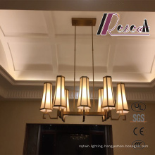 Modern Antique Brass Lobby Pendant Lamp for Hotel Project