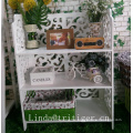 Modern home furniture woven newspaper books magazine flowers sundries hanging baskets