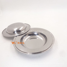Oval Indian Stainless Steel Dishes Food Serving Tray / Dinner Plate and Soup Tray