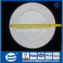"""Hotel verwendet weißes Porzellan 9 """"runde Vorspeise Abendessen Servierteller"""
