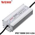 Fuente de alimentación de la transferencia de IP67 impermeable 100W 24V LED
