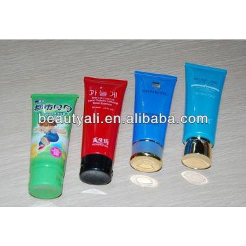 Tube cosmétique en plastique pour shampooing