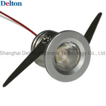 1W rodada mini LED luz da jóia (DT-CGD-018B)
