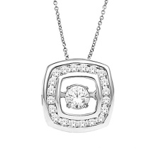 925 Sterling Silver Dancing Diamond Jewelry Silver Pendants