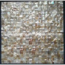 Azulejo iridiscente del mosaico de Shell del río (HMP60)