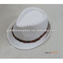 Sombrero de copa de moda blanco barato