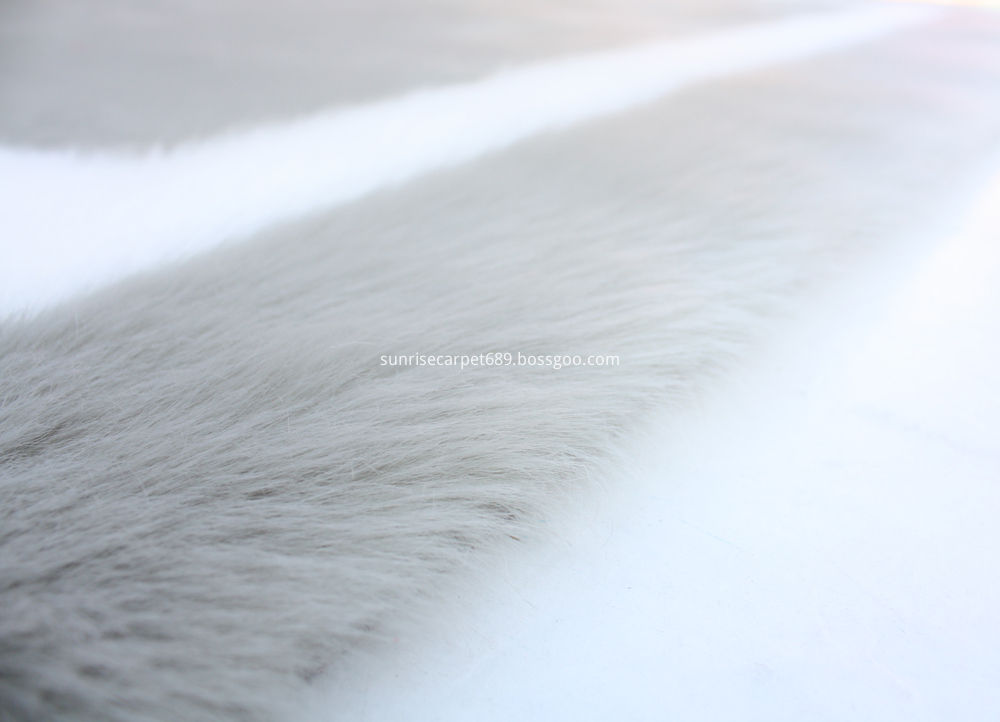 Imitation Fur with design Tupe and white color
