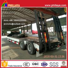 Reboque de caminhão de cama baixa tipo pesado 40ton