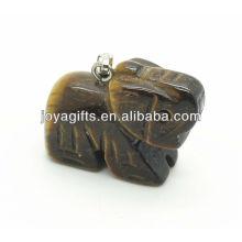 Подвеска драгоценного камня из слоновой кости с натуральным тигровым глазком