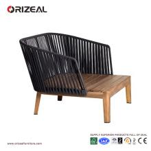 Silla de madera al aire libre del club de la teca con los brazos OZ-OR073