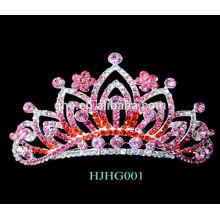 Corona de lujo coronas de plástico y tiaras corona tiara tiara rosa