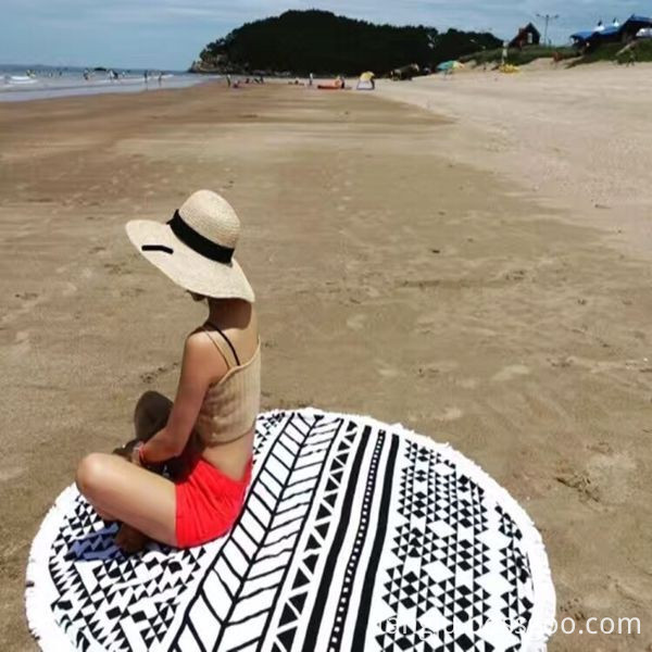round beach towels 100% cotton