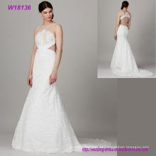 Vestidos de boda al por mayor del cordón del halter de la ropa para las mujeres elegantes