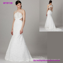 Одежда оптом Холтер кружева свадебные платья для женщин элегантный