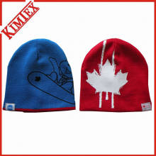 High Quality Printed Reversible Beanie for Promotion