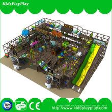 Nuevo diseño Popular Pirate Ship Kids Indoor Playground con diapositiva larga