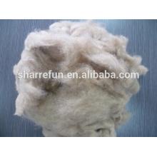 Suave y suave pelo de perro 20.0mic / 26mm fibras de pelo de perro para hacer girar