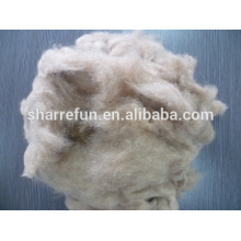 Smooth and soft dog hair 20.0mic/26mm dog hair fibers for spinning