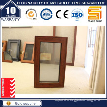 Top Quality Aluminum Cladding Larch Wood Windows, Casement