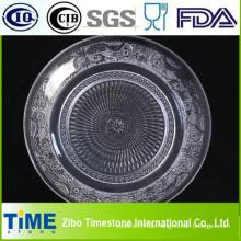 Runde geprägte Glas-Fruchtplatte (GP001)