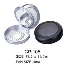 Round Plastic Compact Case with Mirror