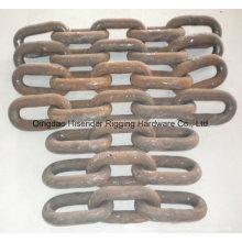 Cadena de mina de alta resistencia, cadena G80, cadena de elevación, cadena con elevación calibrada, cadena de ancla, acero de aleación, buena calidad. Fabricante profesional