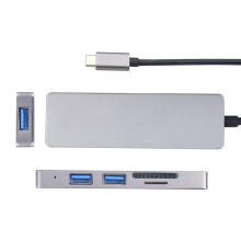 HDMI + SD + TF + USB3.0 * 2에 USB3.0 Type-C 허브