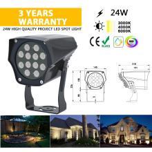 Holofote 24V para jardim externo lâmpada LED urbana