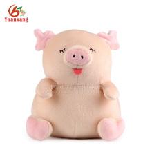 Juguete rosado al por mayor rellenado del cerdo de la felpa suave