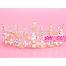 Reyes decorativos al por mayor de la joyería y tiara de la Navidad de la reina
