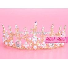 Reinos decorativos por atacado de jóias e tiara de rainha de Natal