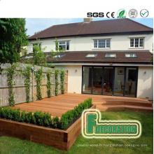 Decking en bois composite de PVC de haute qualité