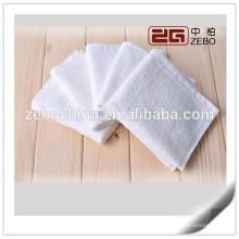 100% algodón 16S excelente agua absorbente al por mayor blanco toallas de mano