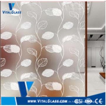 4mm, 5mm, 6mm gefärbte dekorative Farbe beschichtet Kunst Glas