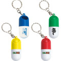 Promotional Capsule Shape Pill Box Key Chain