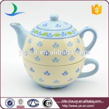 YStp0004-0 chá de cerâmica pintado à mão 100% definido para um estilo europeu