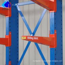 Système de rayonnage de stockage en porte-à-faux robuste de Jracking Utilisation d'intérieur